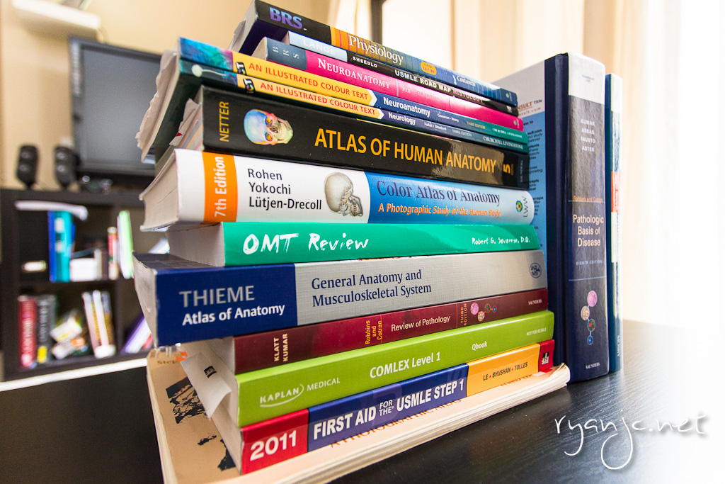 Gunning Med School: Books for First Year | ryanjc.net: photos and travel