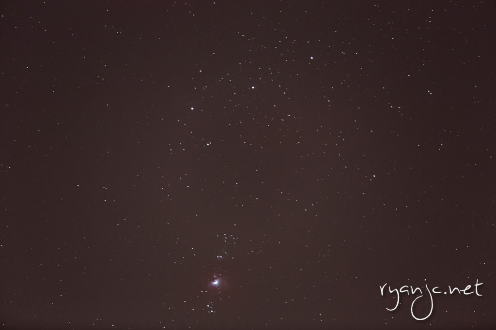 Orion constellation and nebula