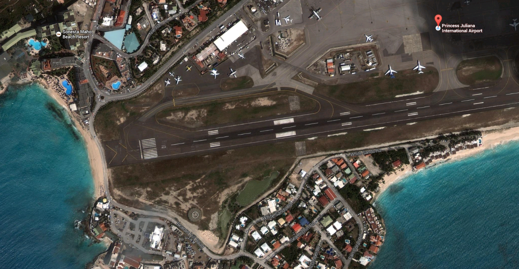Google maps view of SXM