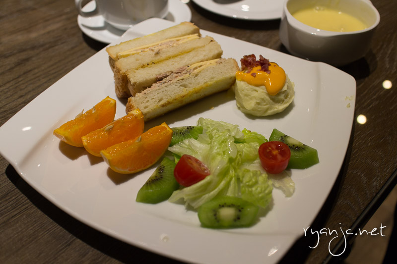 Breakfast at our hotel was always healthy and different every day!