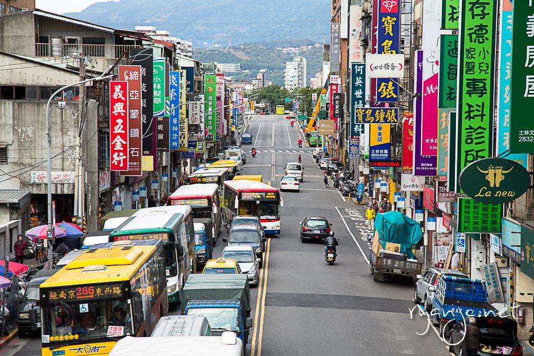 Wenlin Rd, Shilin, Taipei, Taiwan. Taken February 9, 2015.